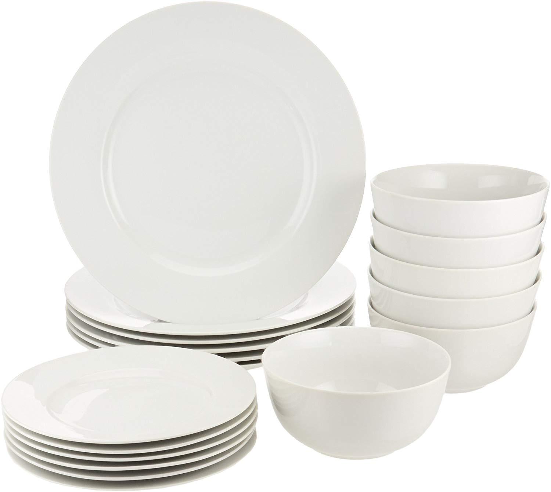 AmazonBasics White Dinnerware Set