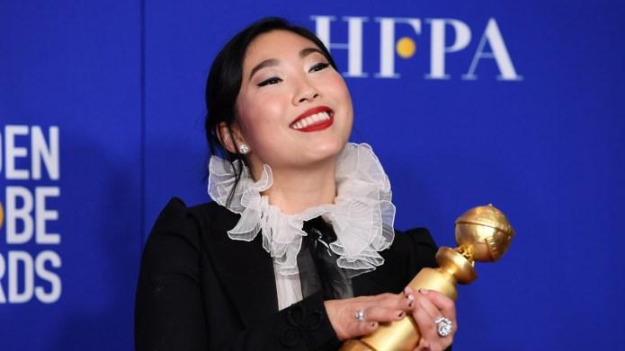 Awkwafina at 2020 Golden Globes