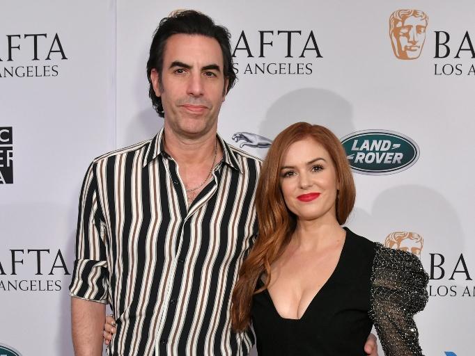 Isla Fisher and Sacha Baron Cohen