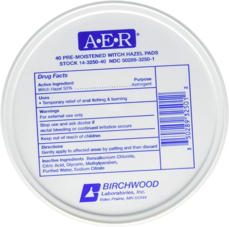 Birchwood Laboratories A-E-R Pre-Moistened Witch Hazel Pads