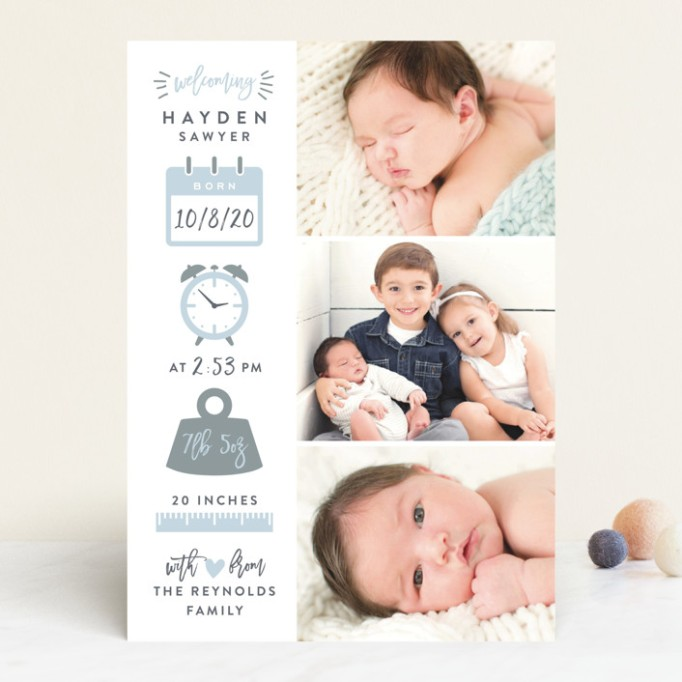 Cute Birth Announcements Minted Measures of Love