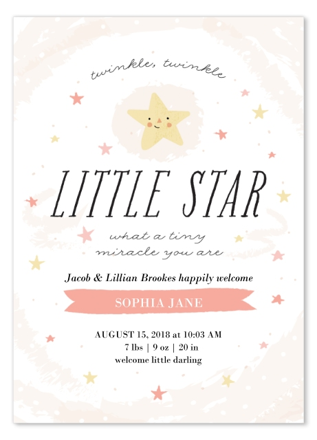 Cute Birth Announcement Snapfish Hickory Dickory Twinkle Twinkle