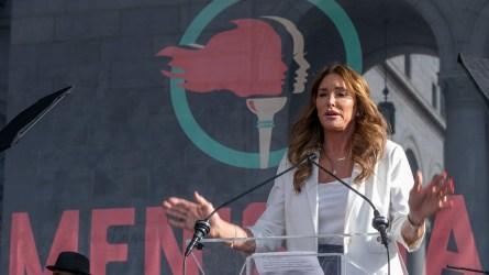 Transgender rights activist Caitlyn Jenner speaks