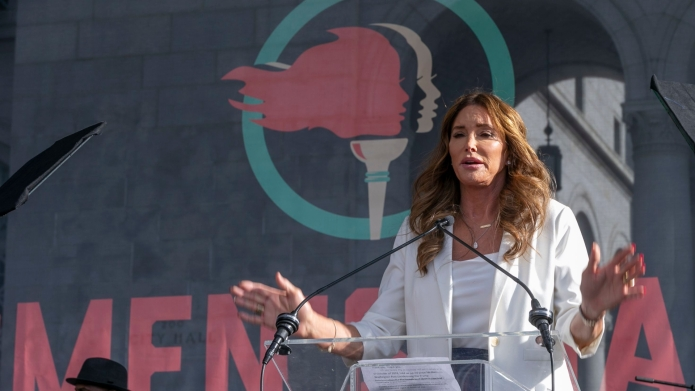 Transgender rights activist Caitlyn Jenner speaks