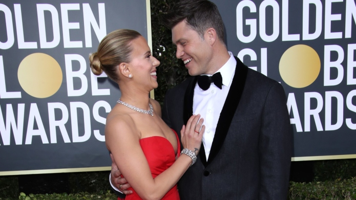 Scarlett Johansson and Colin Jost at