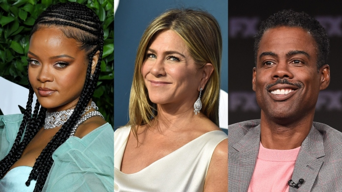 Rihanna Jennifer Aniston Chris Rock