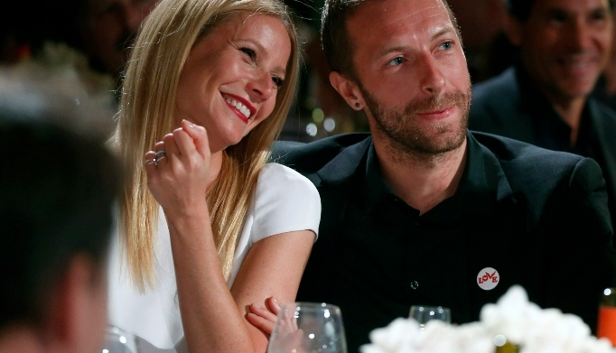 Actress Gwyneth Paltrow and Chris Martin