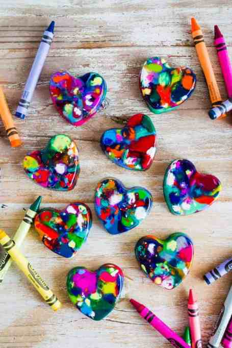 Class Valentine's Day Gifts Crayon Hearts