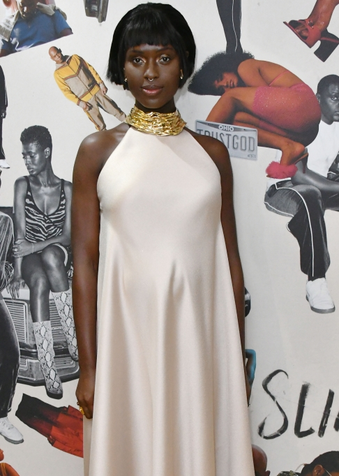 Jodie Turner-Smith Showing Off Baby Bump on the Red Carpet at the 'Queen and Slim' film premiere in London on January 28th.