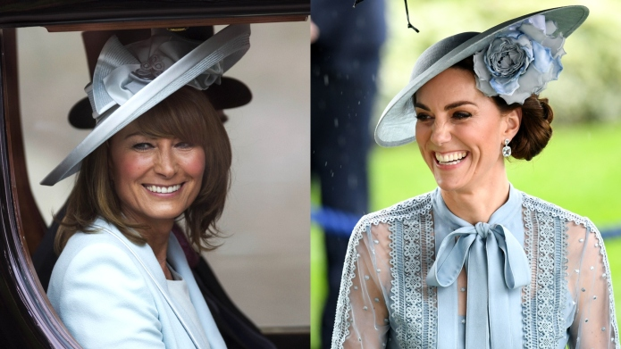 Carole Middleton and Kate Middleton composite