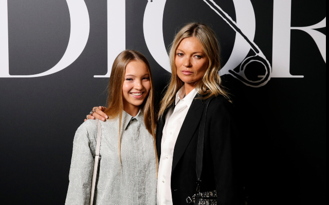 Kate Moss & Daughter Lila Grace Look Like Twins at Paris Fashion Week