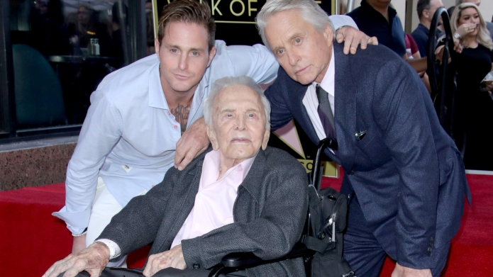 Cameron Douglas, Kirk Douglas and Michael