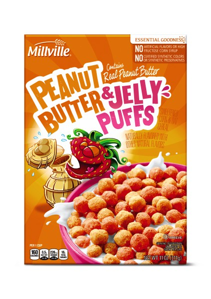 Millville Peanut Butter and Jelly Puffs