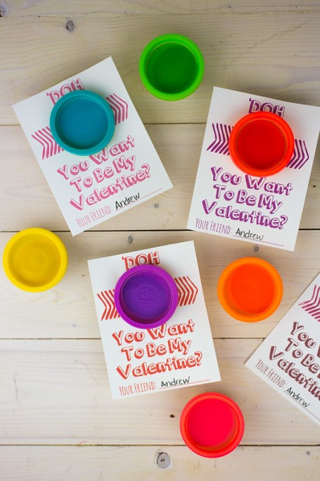 Class Valentine's Day Gifts Play-Doh Cards