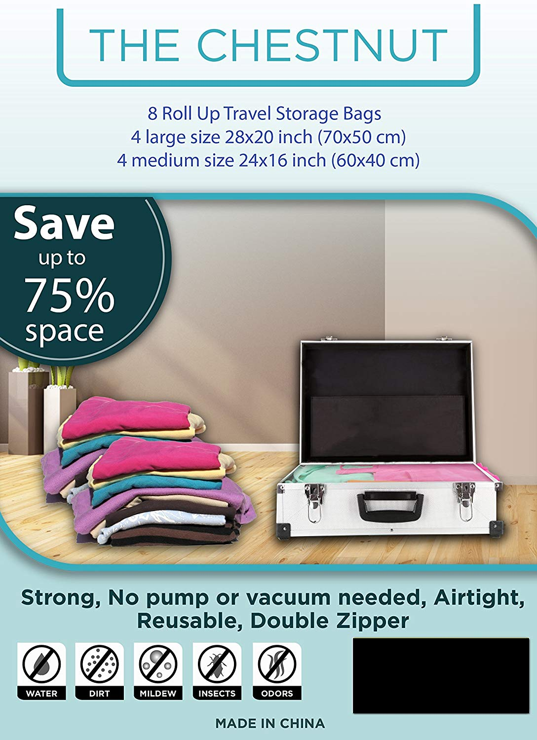 Reusable Roll-up Travel Space Saver Bags