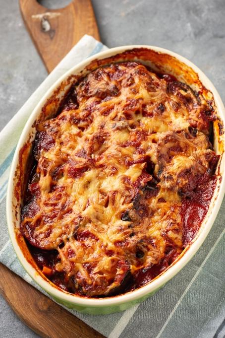 Roasted eggplant parmesan