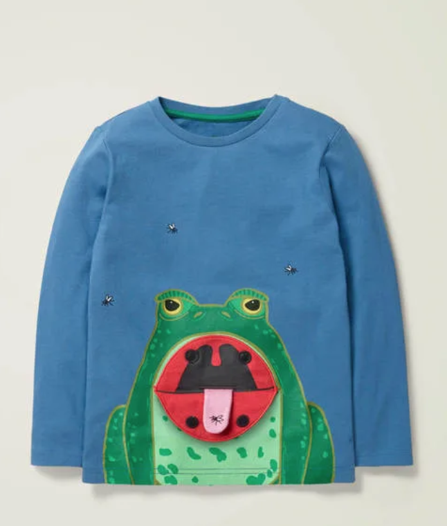 Toddler frog shirt Boden