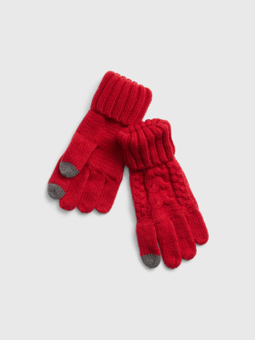 Kids Hats & Gloves to Stock Up On (Because You Know They've Lost Theirs Already): Kids Cable-Knit Smartphone Gloves