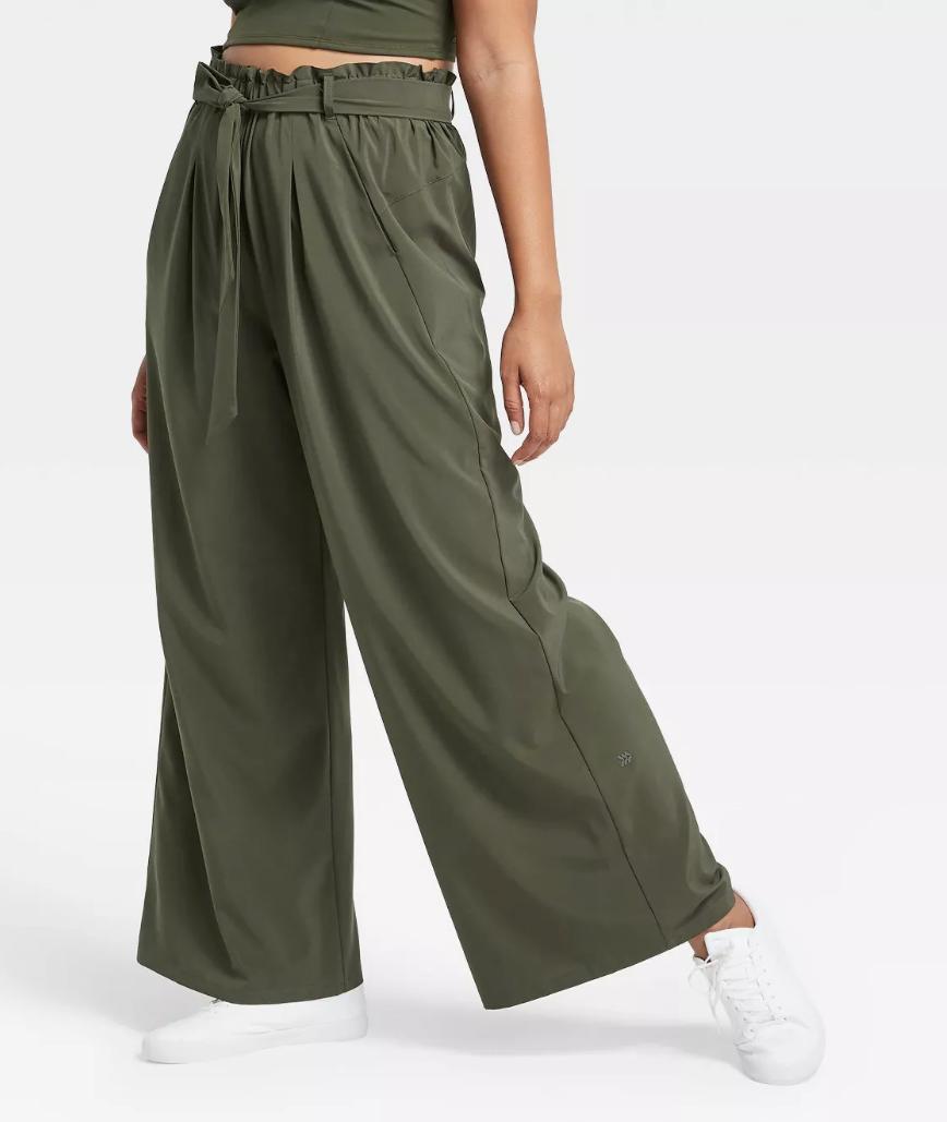 Women's Stretch Woven Wide Leg Pant