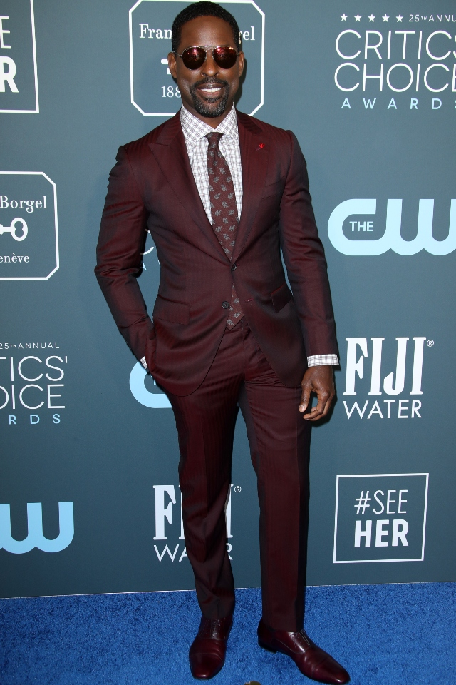 Sterling K. Brown at the 25th Annual Critics' Choice Awards, Barker Hanger, Los Angeles, USA - 12 Jan 2020