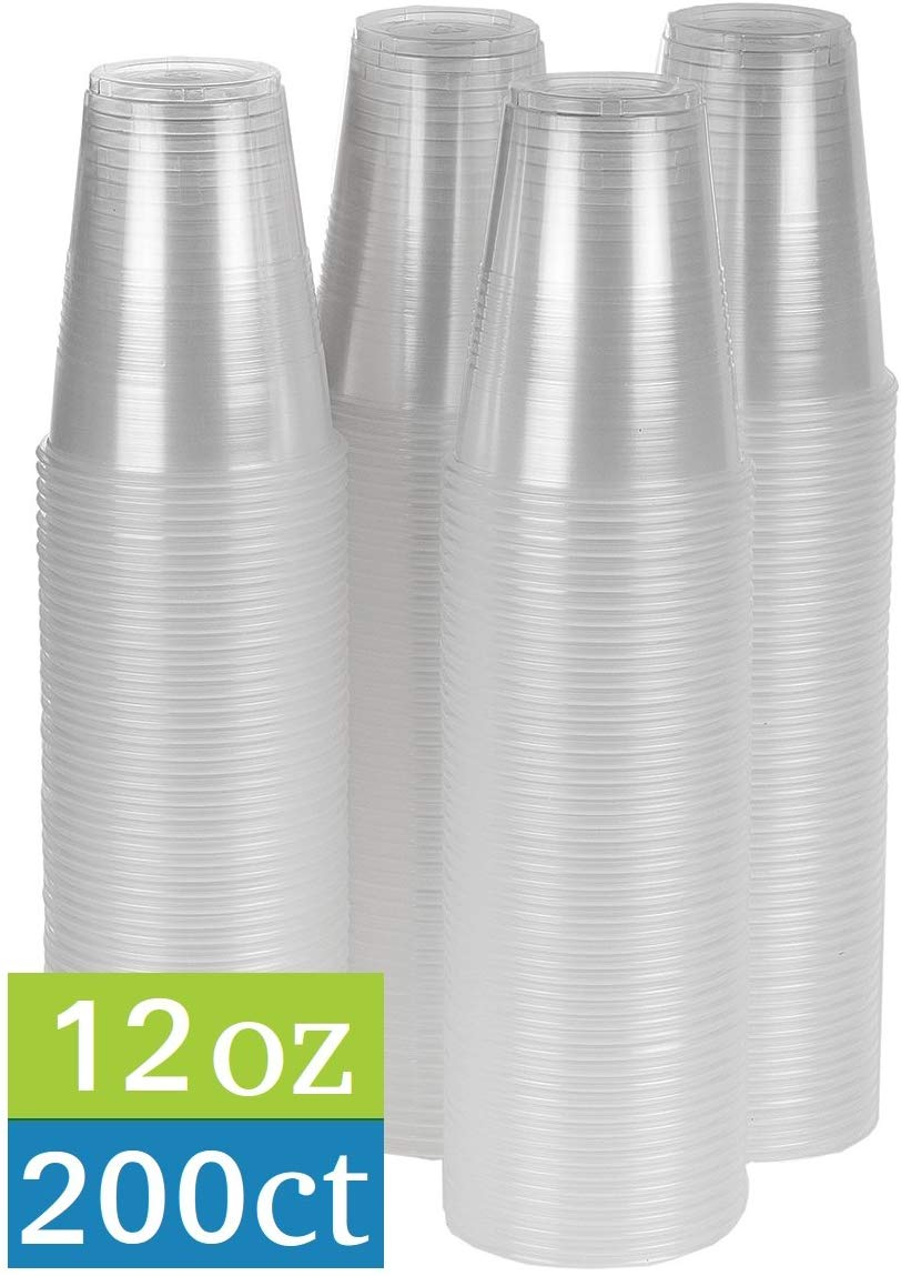 TashiBox Clear Plastic Party-Cups