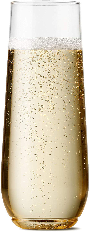 Tossware Pop Plastic Champagne Flutes