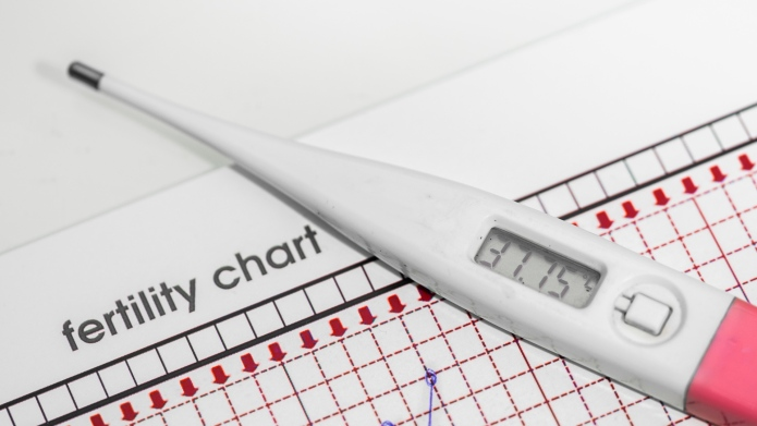basal-thermometer and fertility chart