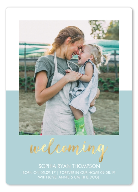 Birth Announcement Adoption Announcement Welcoming Home Snapfish