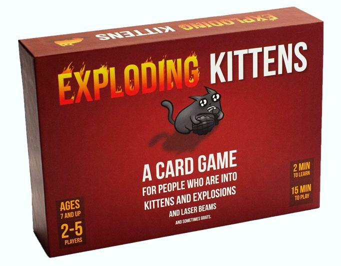 Best Board Games for Families Exploding Kittens
