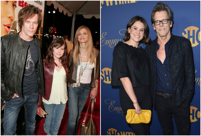 Sosie Bacon with dad Kevin Bacon and mom Kyra Sedgwick