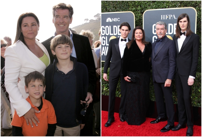 Dylan and Paris Brosnan with dad Pierce Brosnan and Keeley Shaye