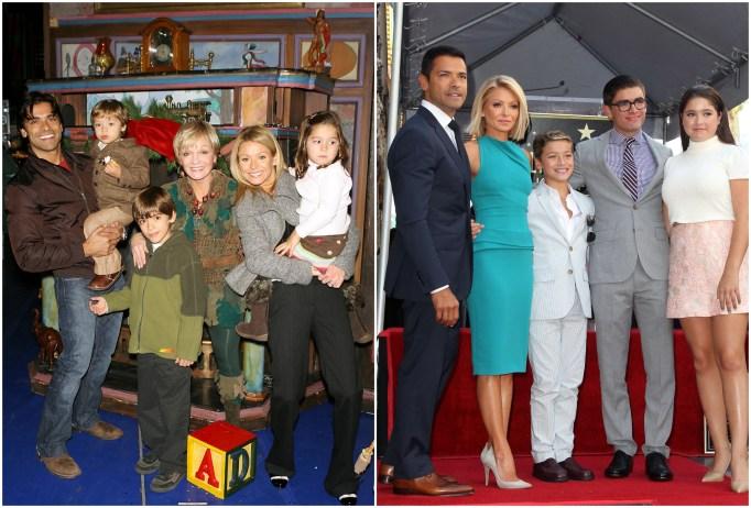 Lola, Michael & Joaquin Consuelos with parents Kelly Ripa and Mark Consuelos