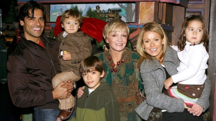 Kelly Ripa with children Lola, Michael