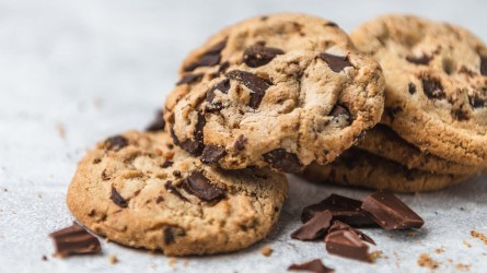 Group of homemade Chocolate-chip cookies on