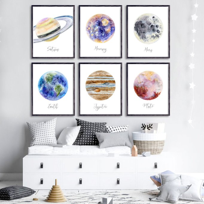 Nursery Artwork That's One-of-a-Kind — & Affordable: Outer Space Decor