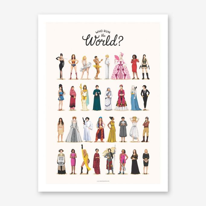 Nursery Artwork That's One-of-a-Kind — & Affordable: Who Run the World Art Print