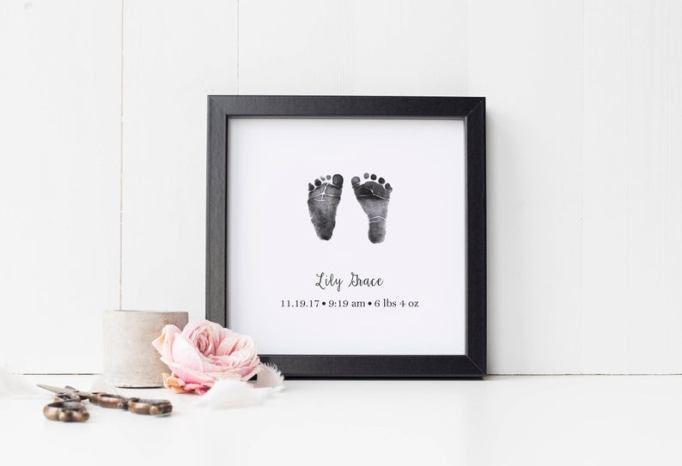 Nursery Artwork That's One-of-a-Kind — & Affordable: Baby Footprint Art Print
