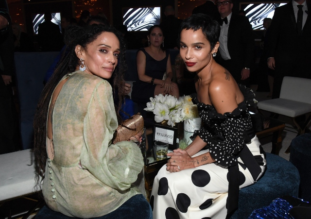 'Big Little Lies' Star Zoë Kravitz Looked Like Mom Lisa Bonet's Twin at the 2020 Golden Globes.
