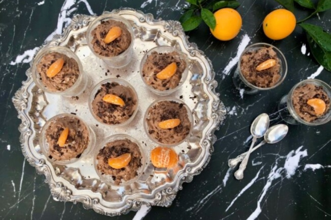 Chocolate Orange Mousse.