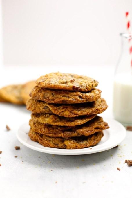 Salty Oatmeal Chocolate Chunk Cookies.