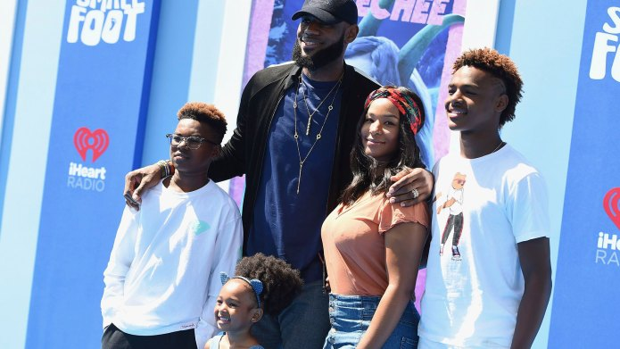 Lebron James and Family
