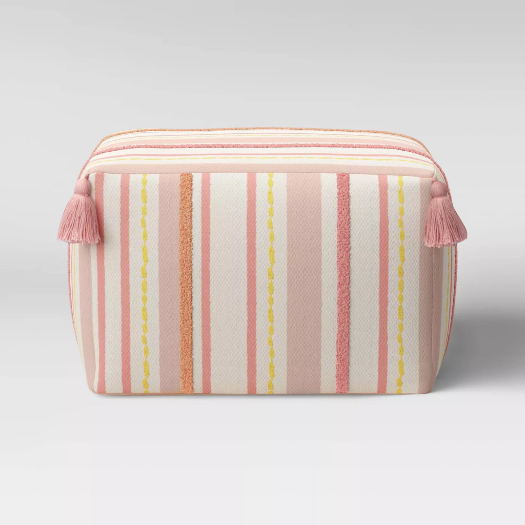 Opalhouse Lucia Embroidered Pouf