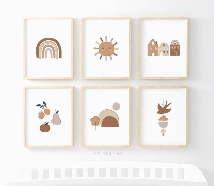 Nursery Artwork That's One-of-a-Kind — & Affordable: Neutral Nursery Print Set