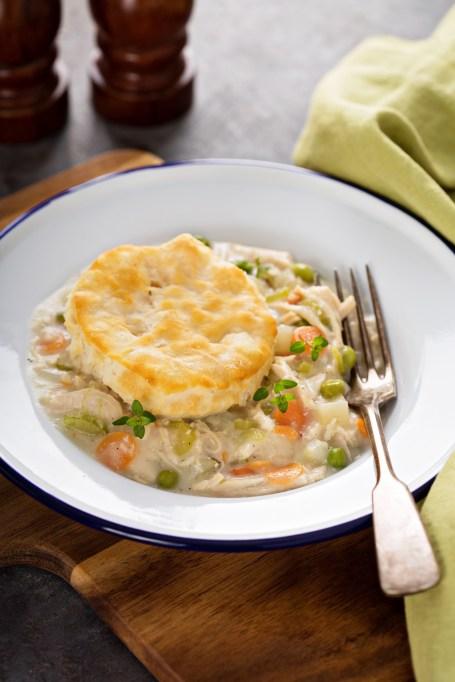Capricorn: Chicken stew with biscuits