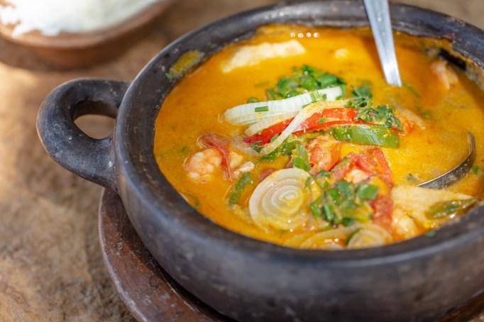 Scorpio: Shrimp & swordfish curry