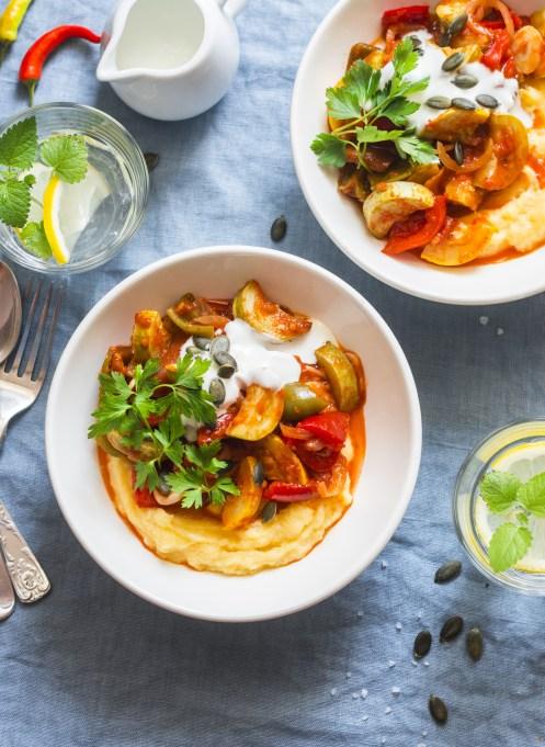 Taurus: Roasted ratatouille with polenta