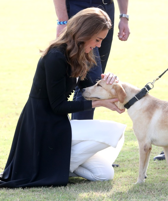 Kate Middleton with a Lab Puppy