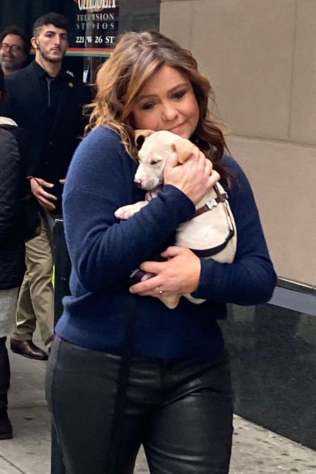 Rachael Ray with a Puppy from the ASPCA