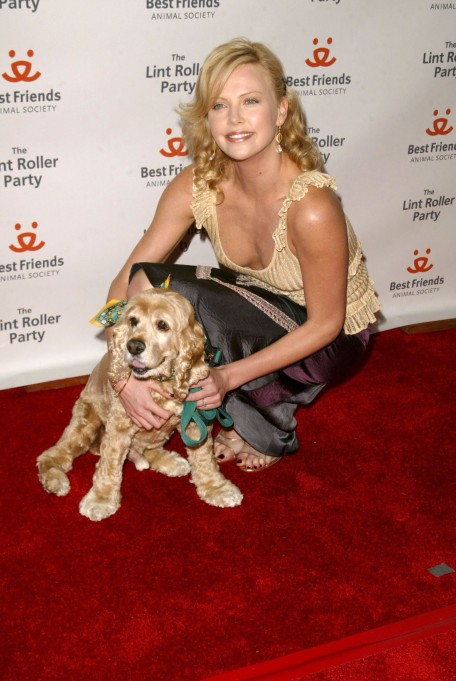 Charlize Theron and her dog Denver