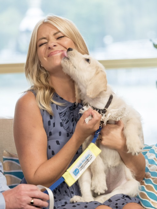 Holly Willoughby with Guide Dog Puppy Clover